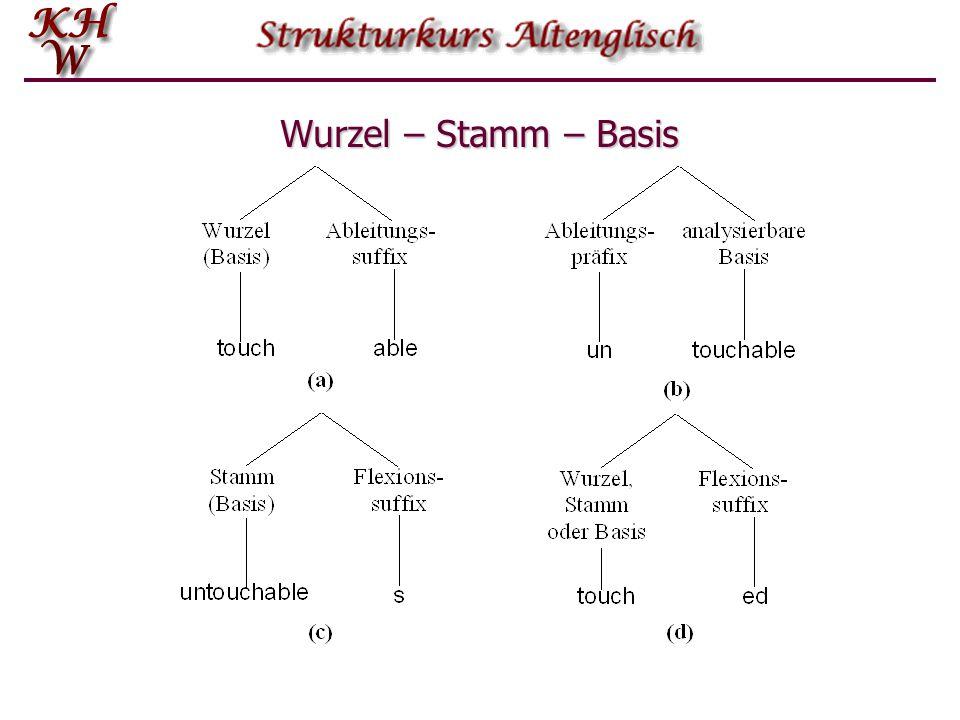 Wurzel – Stamm – Basis
