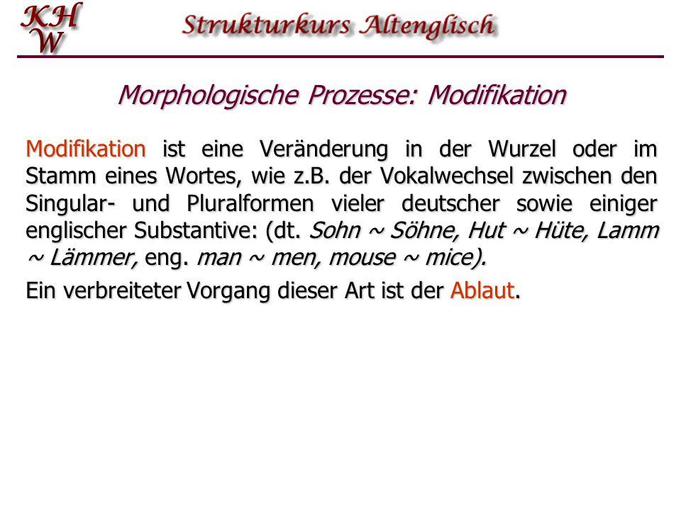 Morphologische Prozesse: Modifikation