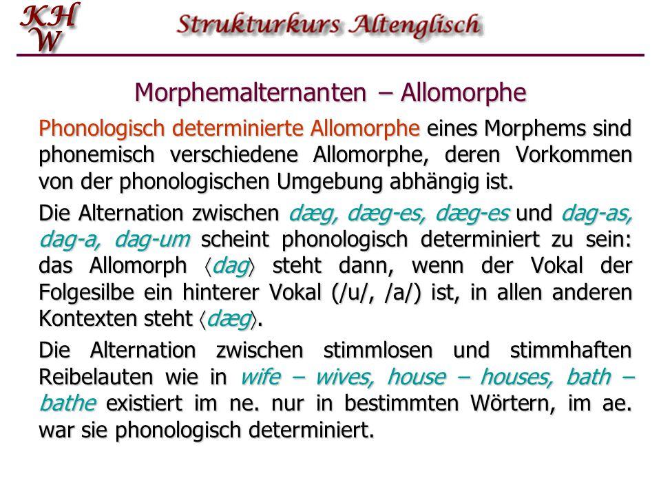Morphemalternanten – Allomorphe