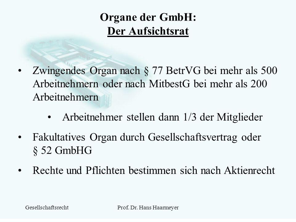 Organe der GmbH: Der Aufsichtsrat