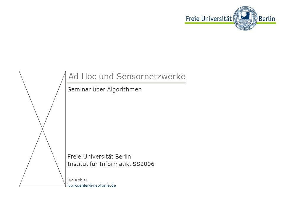 Ad Hoc und Sensornetzwerke