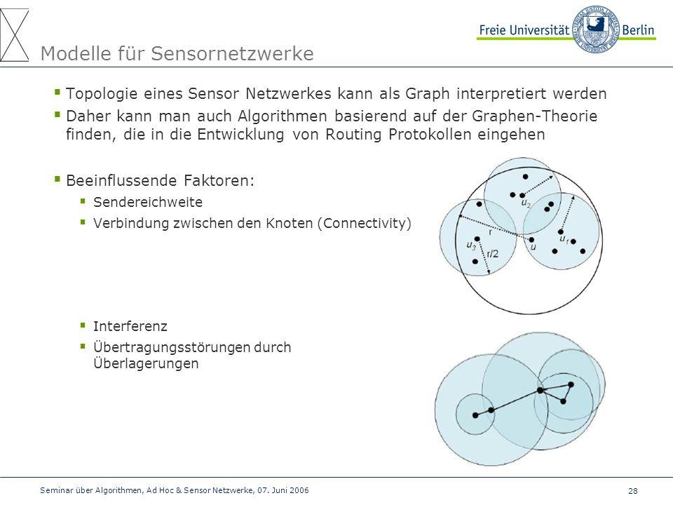 Modelle für Sensornetzwerke