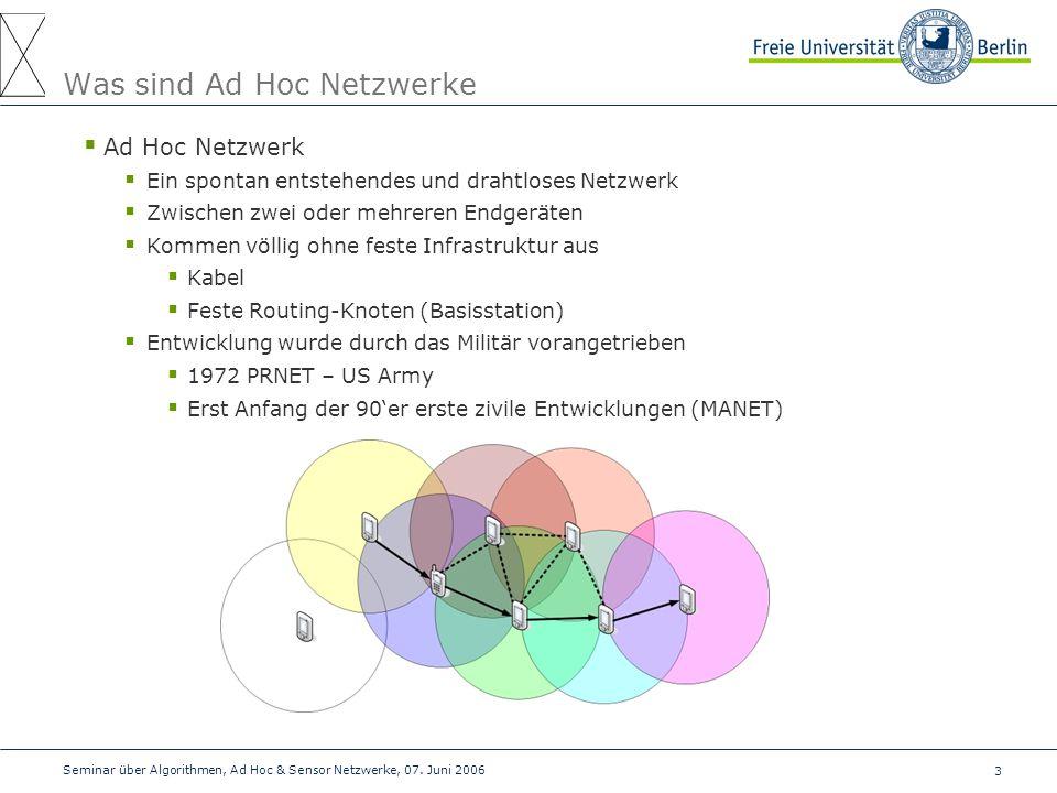 Was sind Ad Hoc Netzwerke
