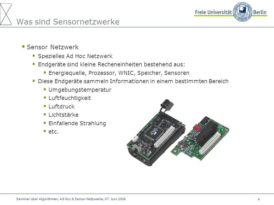 Was sind Sensornetzwerke