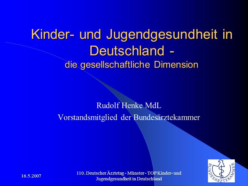 Rudolf Henke MdL Vorstandsmitglied der Bundesärztekammer