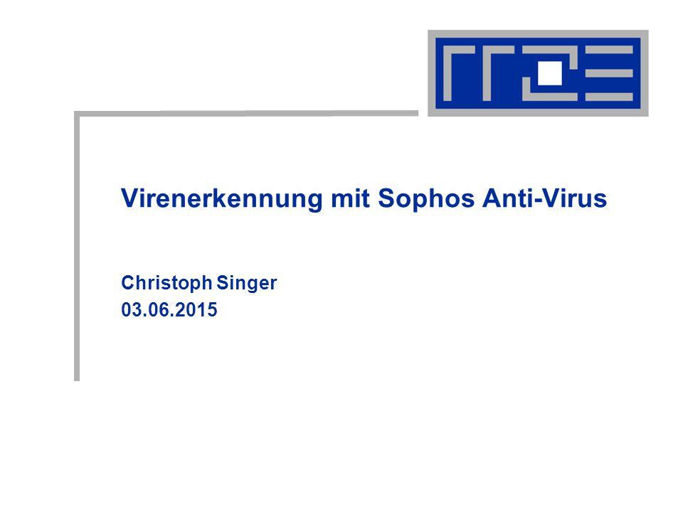 Virenerkennung mit Sophos Anti-Virus