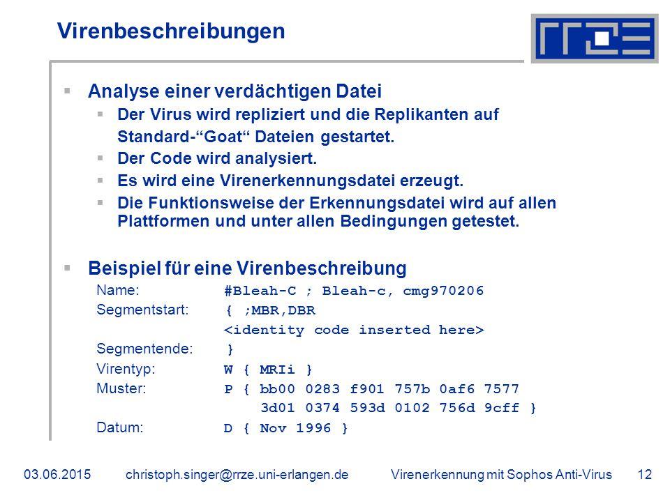 Virenbeschreibungen Analyse einer verdächtigen Datei