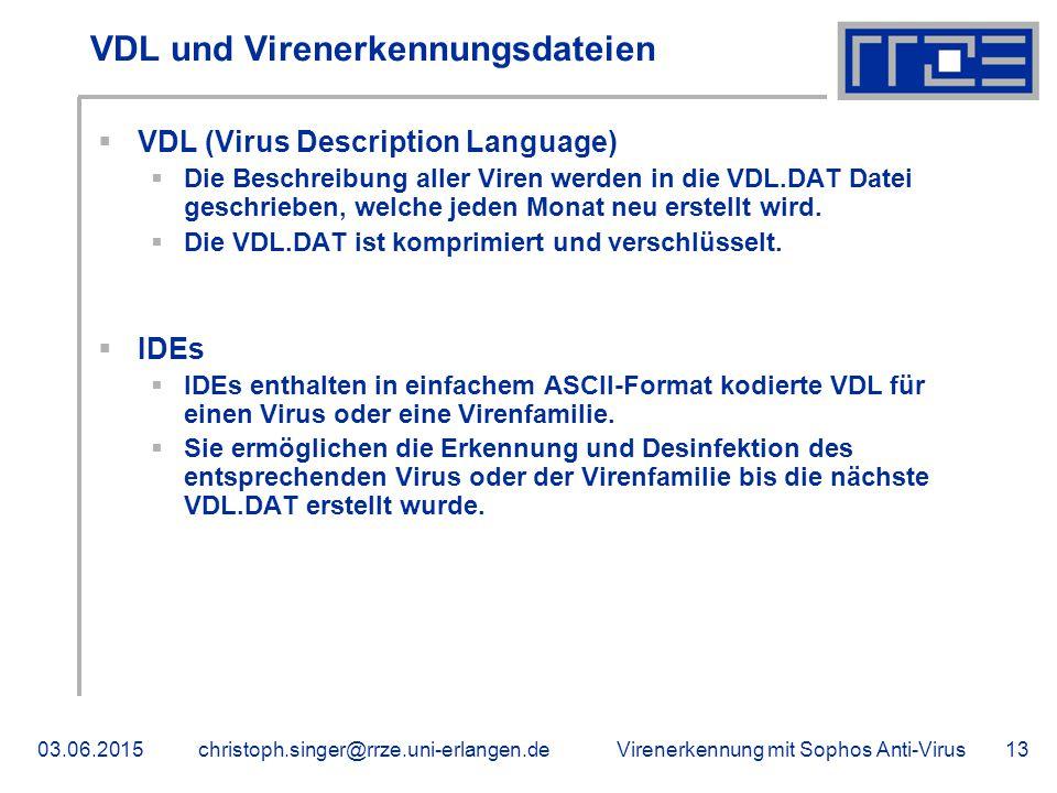 VDL und Virenerkennungsdateien