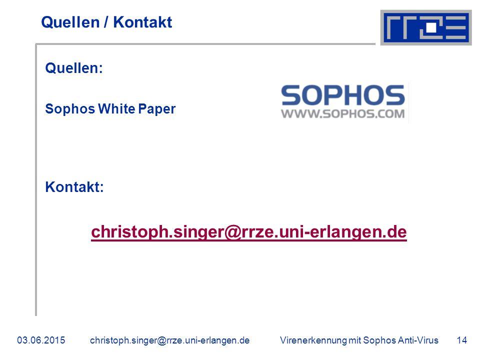 Quellen / Kontakt Quellen: Kontakt: Sophos White Paper