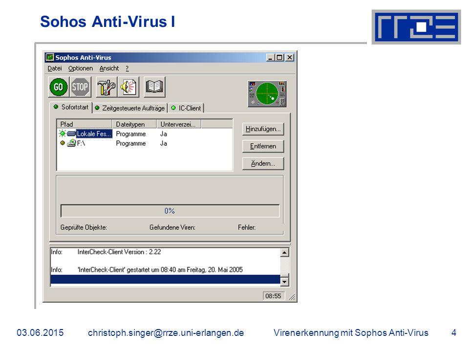 Sohos Anti-Virus I 16.04.2017 christoph.singer@rrze.uni-erlangen.de