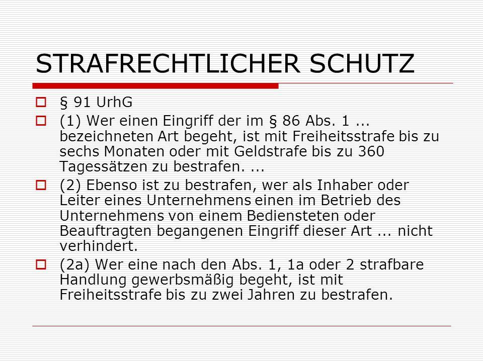 STRAFRECHTLICHER SCHUTZ