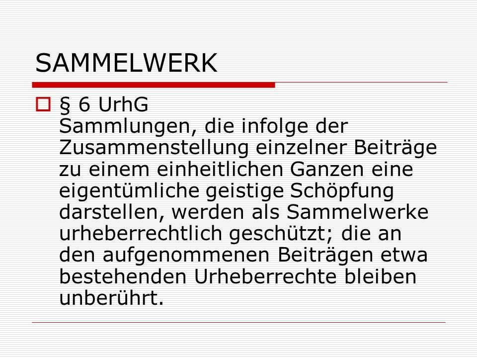 SAMMELWERK