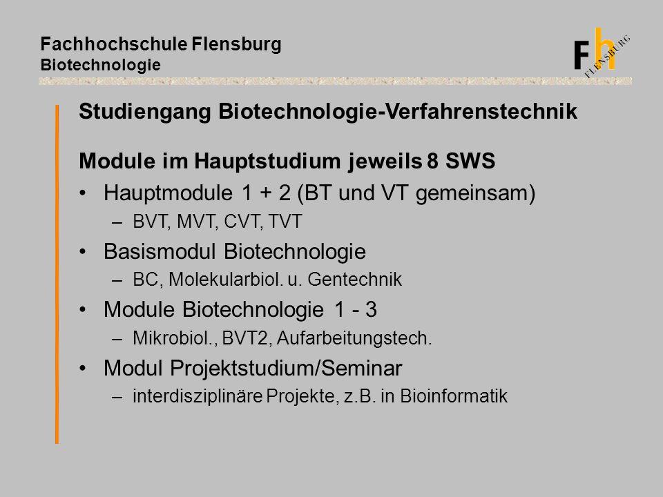 Studiengang Biotechnologie-Verfahrenstechnik