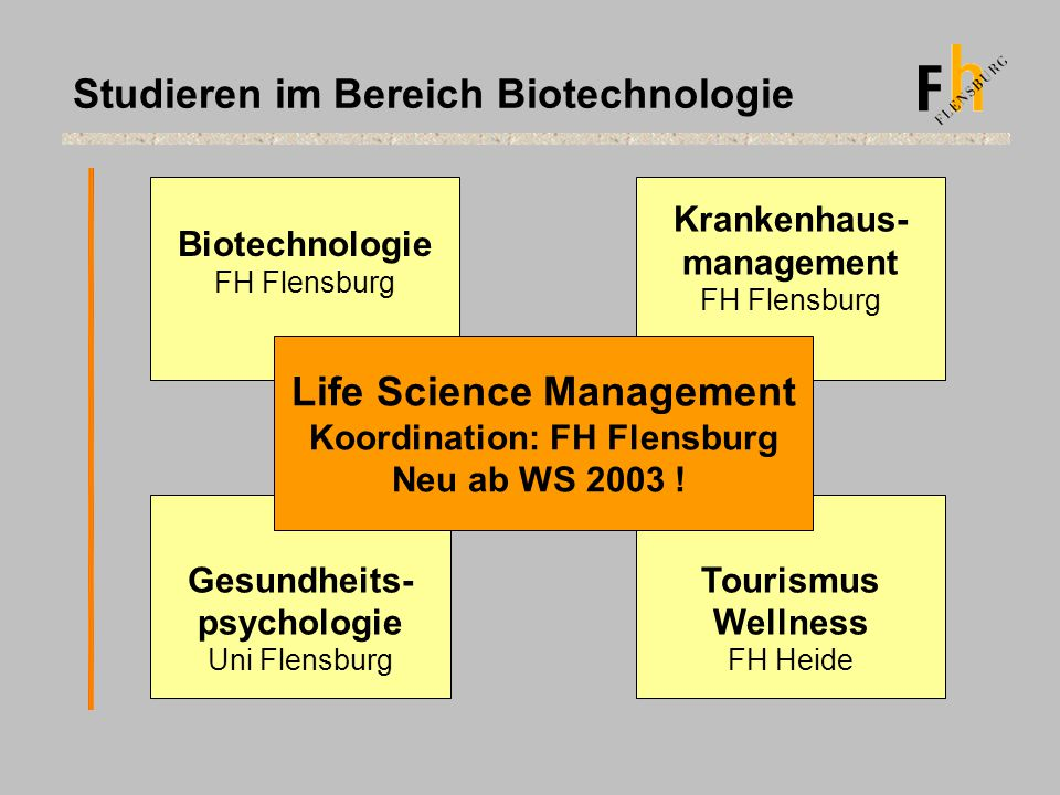 Life Science Management Koordination: FH Flensburg