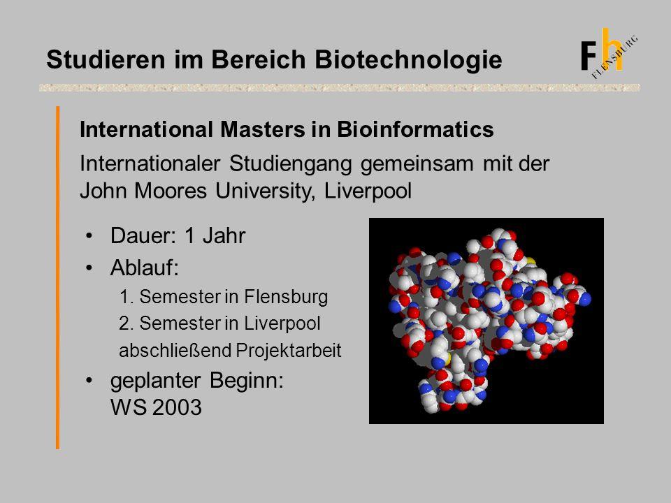 Studieren im Bereich Biotechnologie