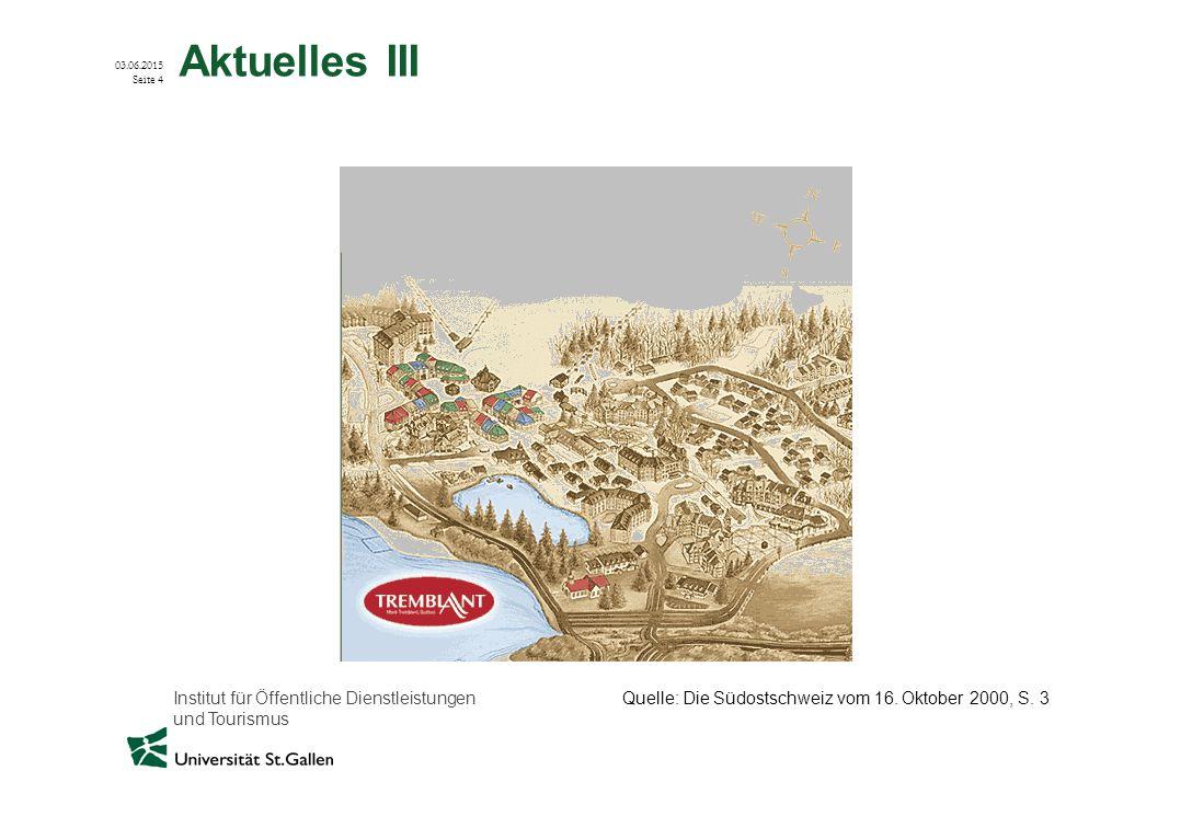 Aktuelles III Quelle: Die Südostschweiz vom 16. Oktober 2000, S. 3