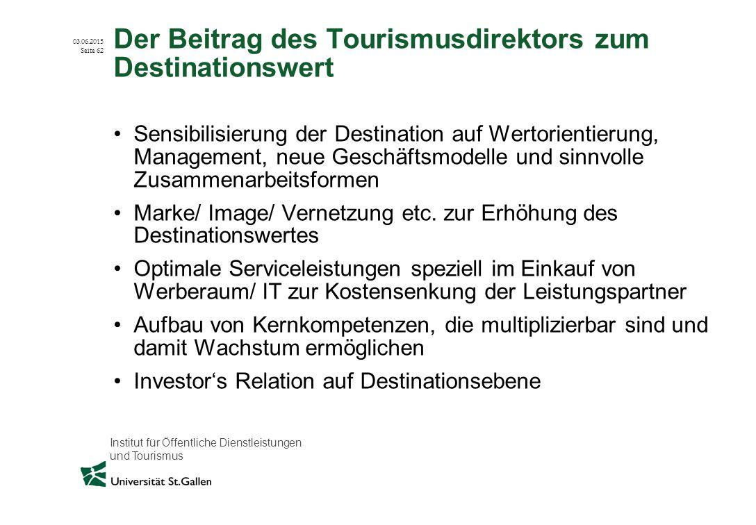 Der Beitrag des Tourismusdirektors zum Destinationswert
