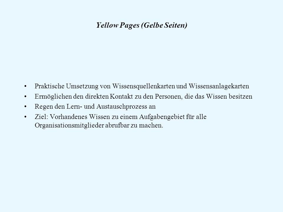 Yellow Pages (Gelbe Seiten)