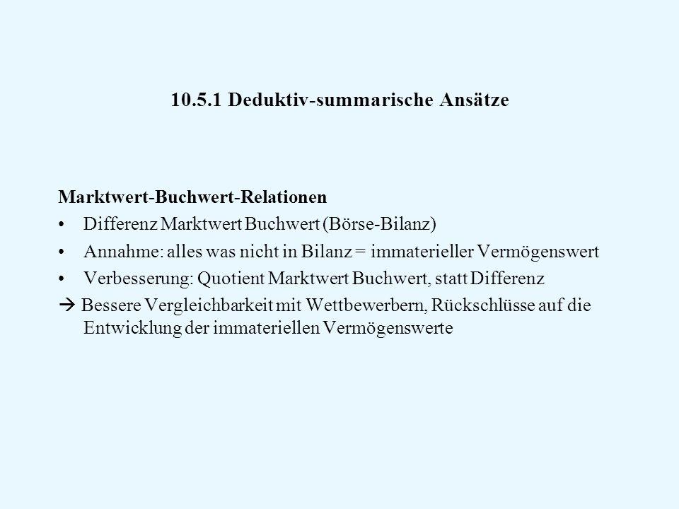 10.5.1 Deduktiv-summarische Ansätze