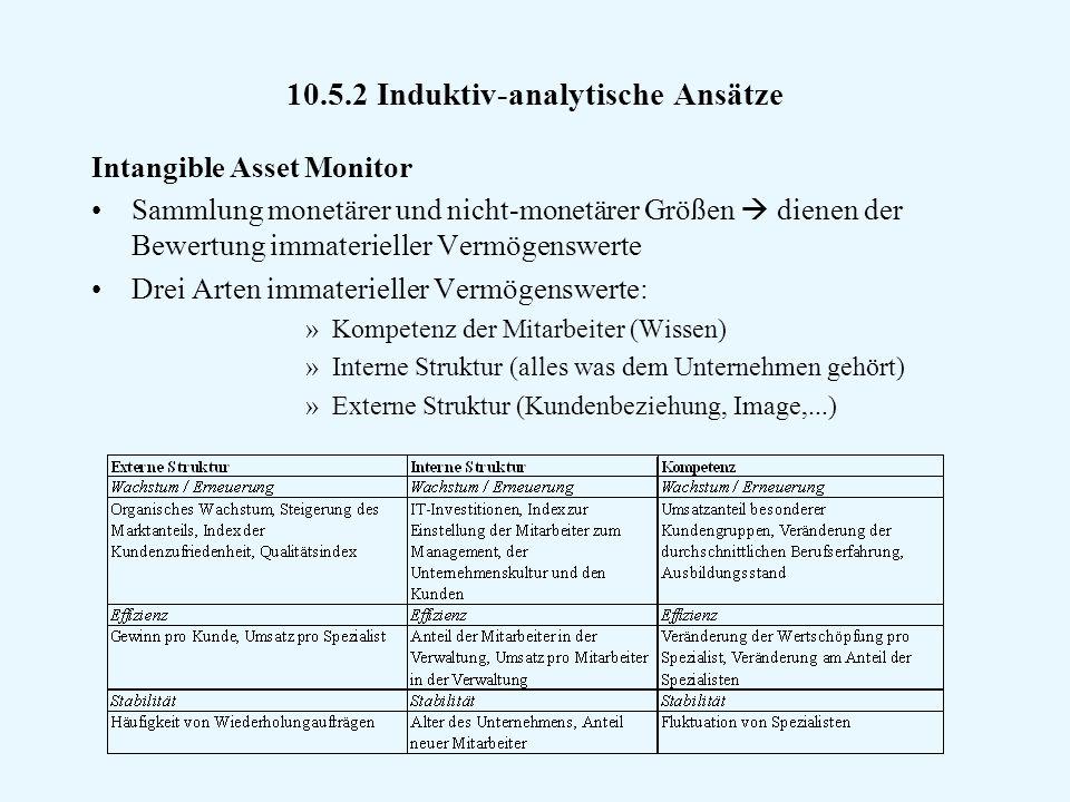 10.5.2 Induktiv-analytische Ansätze