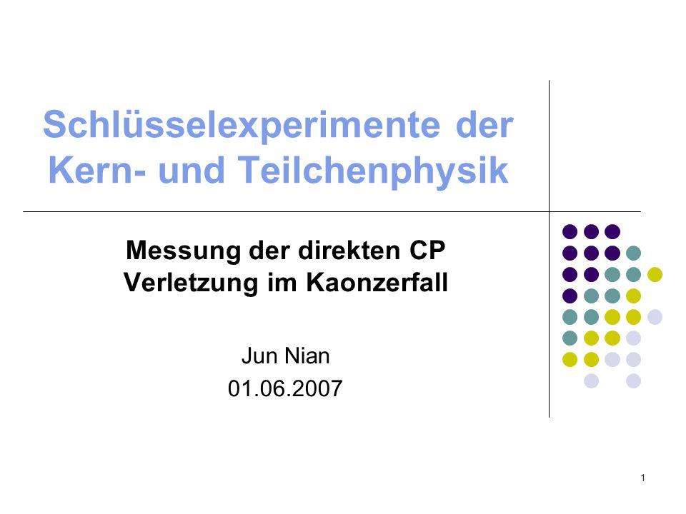 Schlüsselexperimente der Kern- und Teilchenphysik