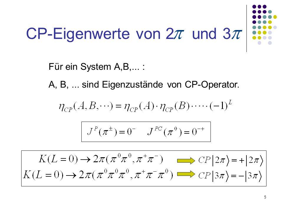 CP-Eigenwerte von 2 und 3 Für ein System A,B,... :