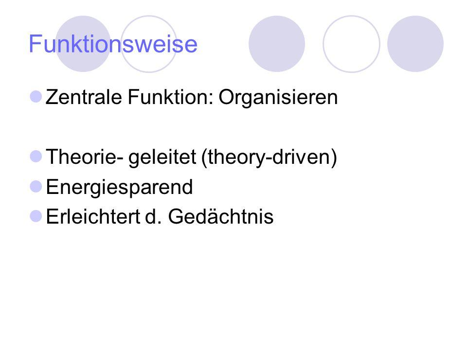 Funktionsweise Zentrale Funktion: Organisieren