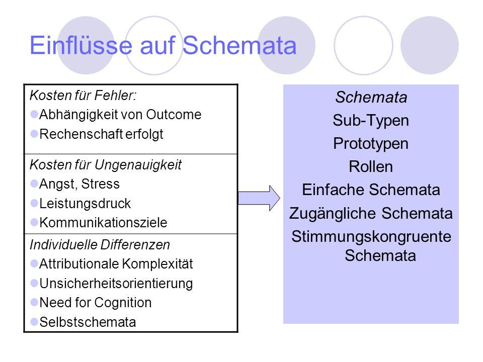 Einflüsse auf Schemata