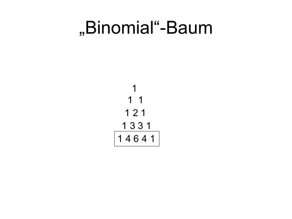 """Binomial -Baum 1 4 6 4 1 1 3 3 1 1 2 1 1 1 1"