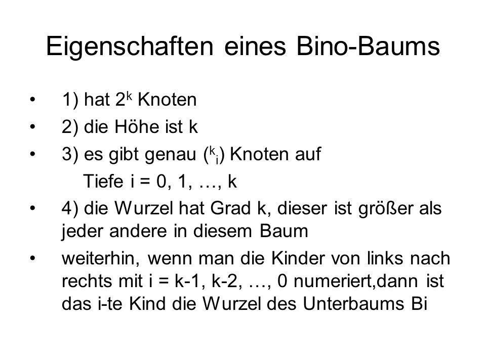 Eigenschaften eines Bino-Baums