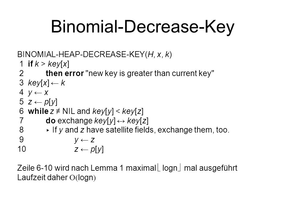 Binomial-Decrease-Key