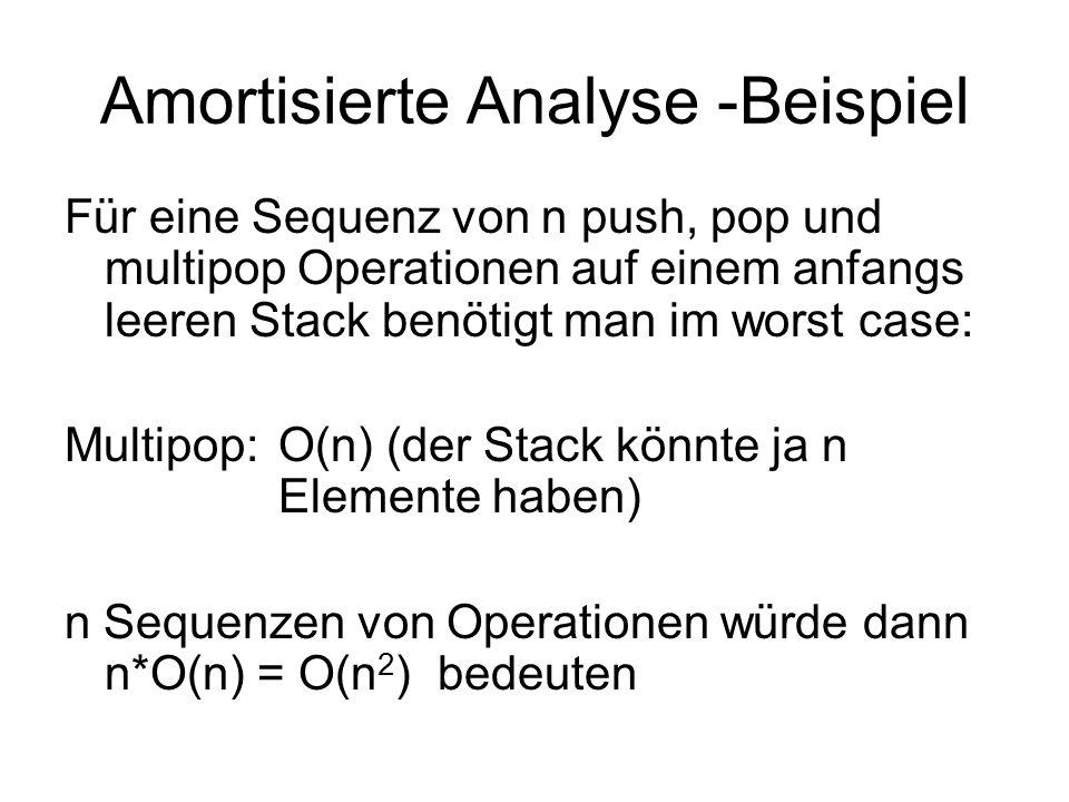 Amortisierte Analyse -Beispiel