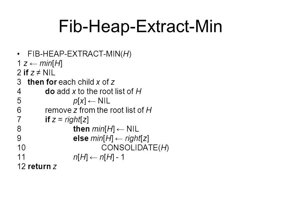 Fib-Heap-Extract-Min