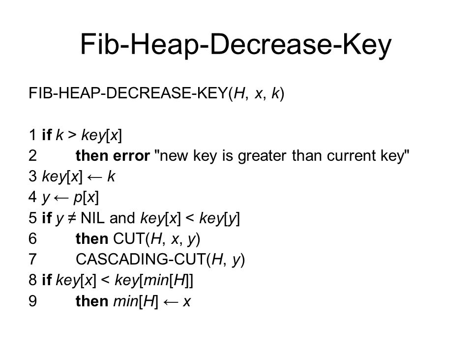 Fib-Heap-Decrease-Key