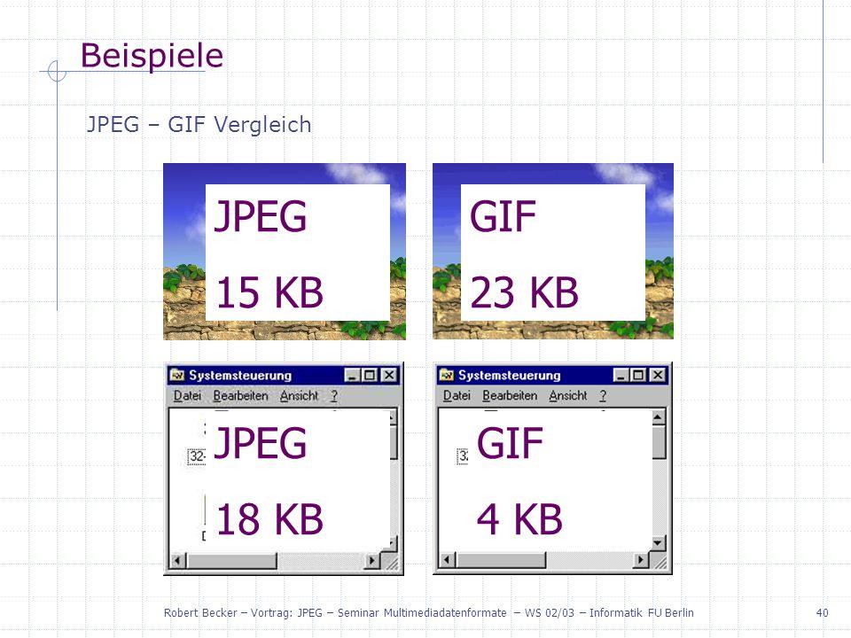 JPEG 15 KB GIF 23 KB JPEG 18 KB GIF 4 KB Beispiele