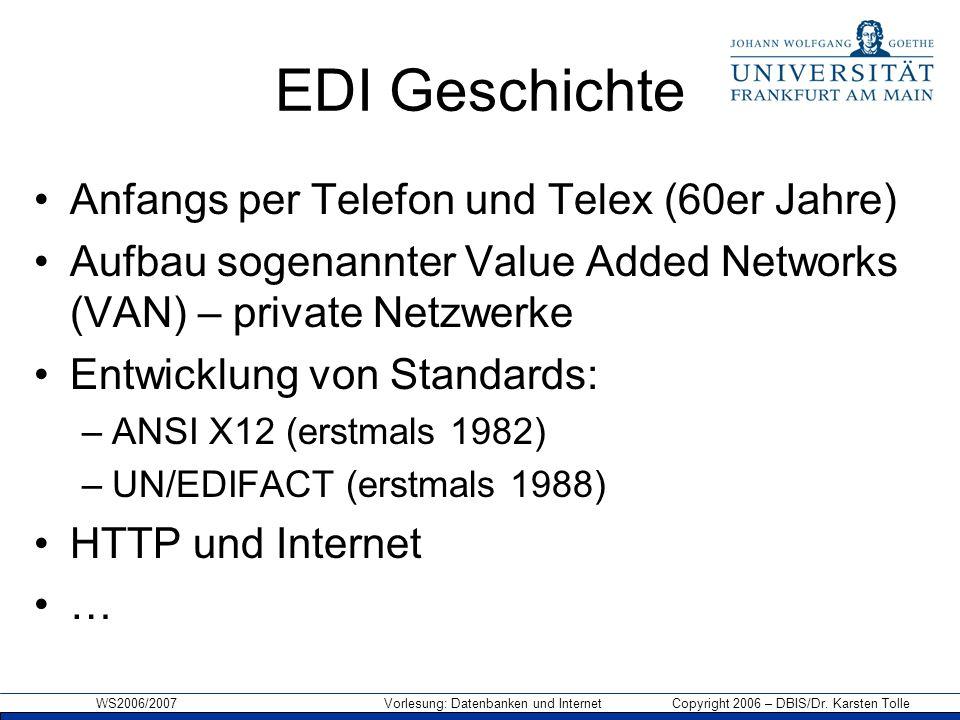 EDI Geschichte Anfangs per Telefon und Telex (60er Jahre)