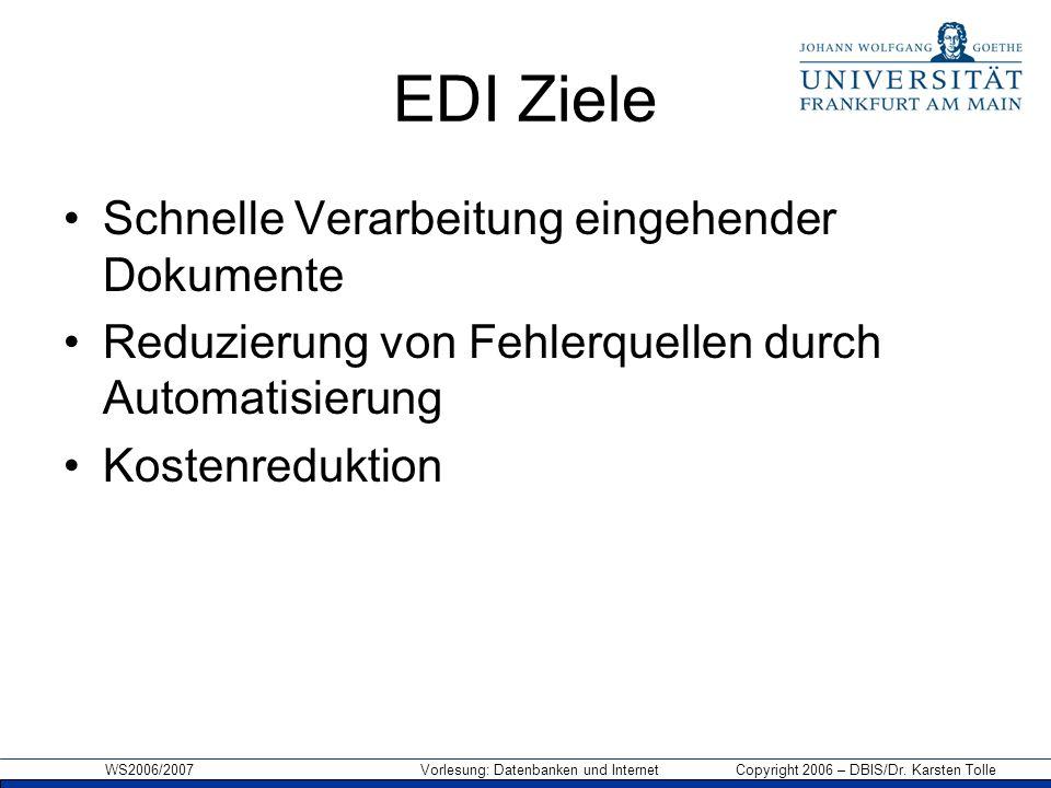 EDI Ziele Schnelle Verarbeitung eingehender Dokumente