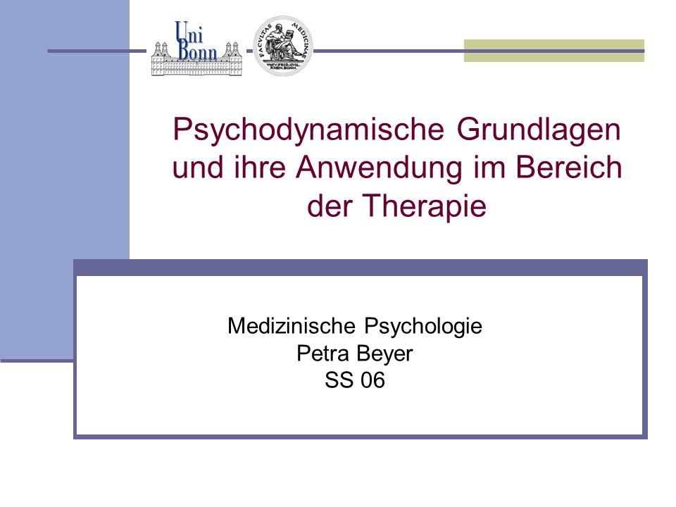 Psychodynamische Grundlagen und ihre Anwendung im Bereich der Therapie