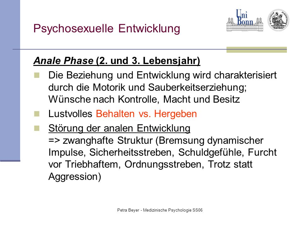 Psychosexuelle Entwicklung