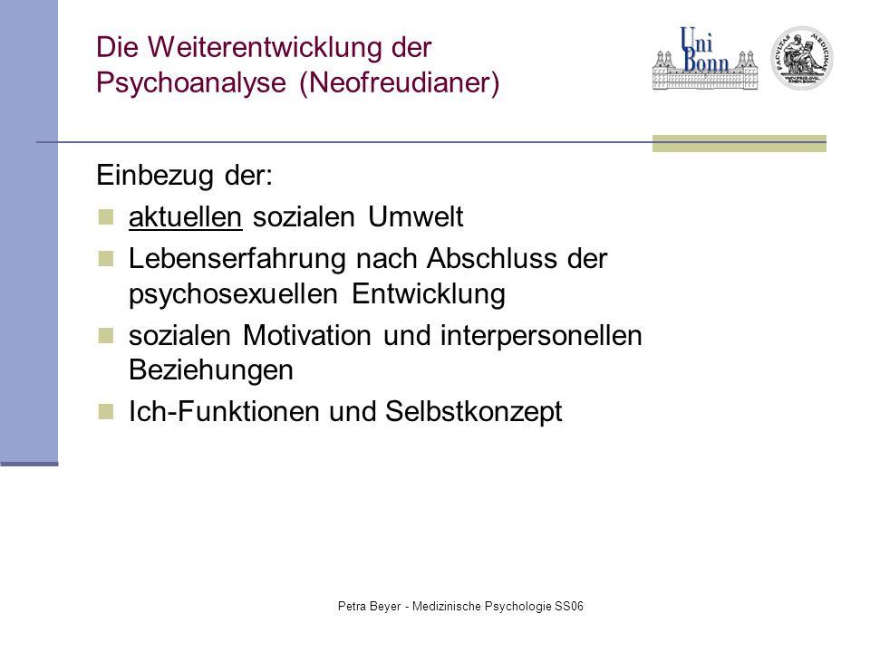 Die Weiterentwicklung der Psychoanalyse (Neofreudianer)
