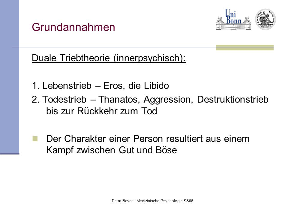 Petra Beyer - Medizinische Psychologie SS06
