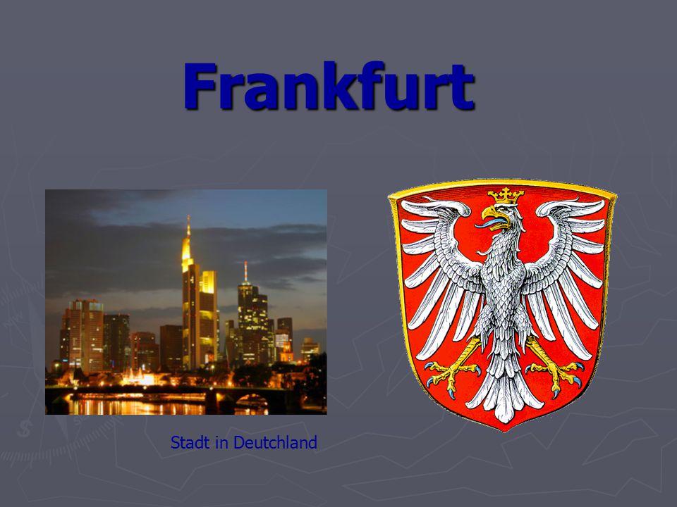 Frankfurt Wappen Stadt in Deutchland