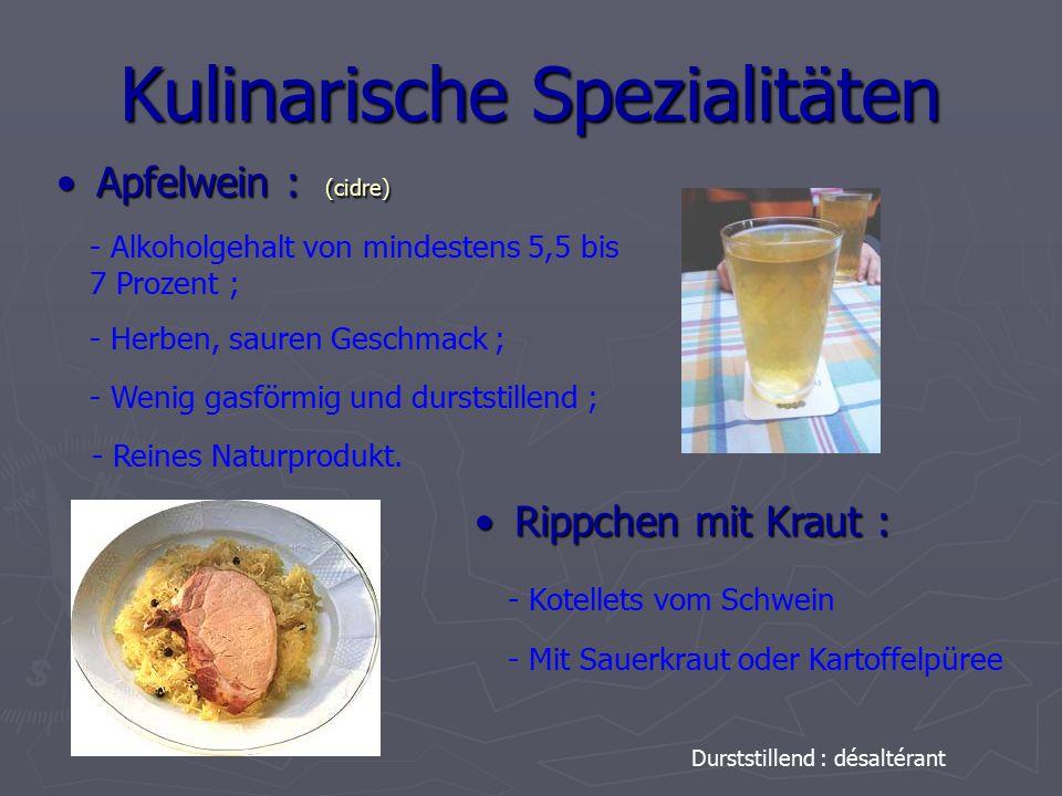 Kulinarische Spezialitäten