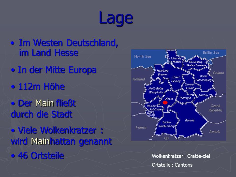 Lage Im Westen Deutschland, im Land Hesse In der Mitte Europa