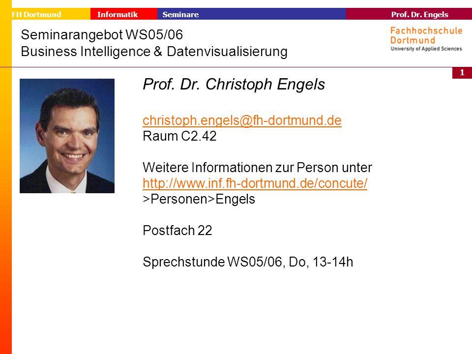 Seminarangebot WS05/06 Business Intelligence & Datenvisualisierung