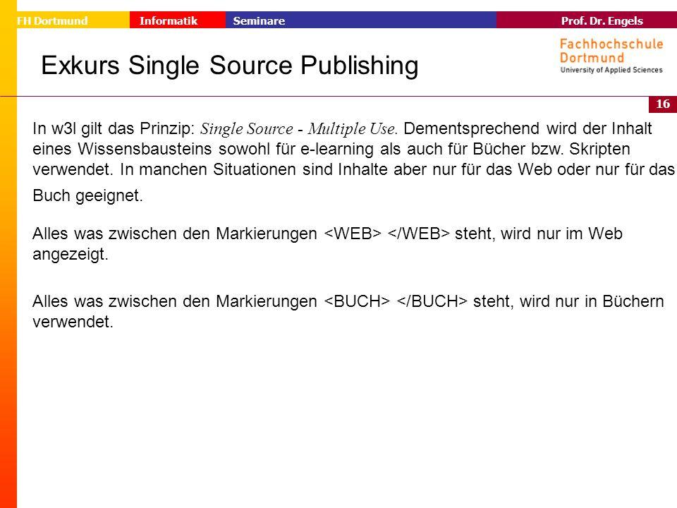 Exkurs Single Source Publishing