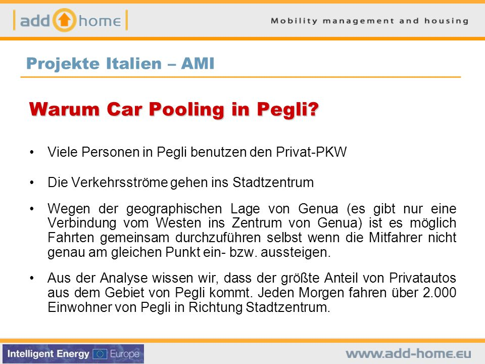 Warum Car Pooling in Pegli
