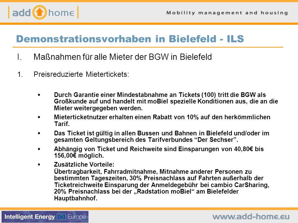 Demonstrationsvorhaben in Bielefeld - ILS