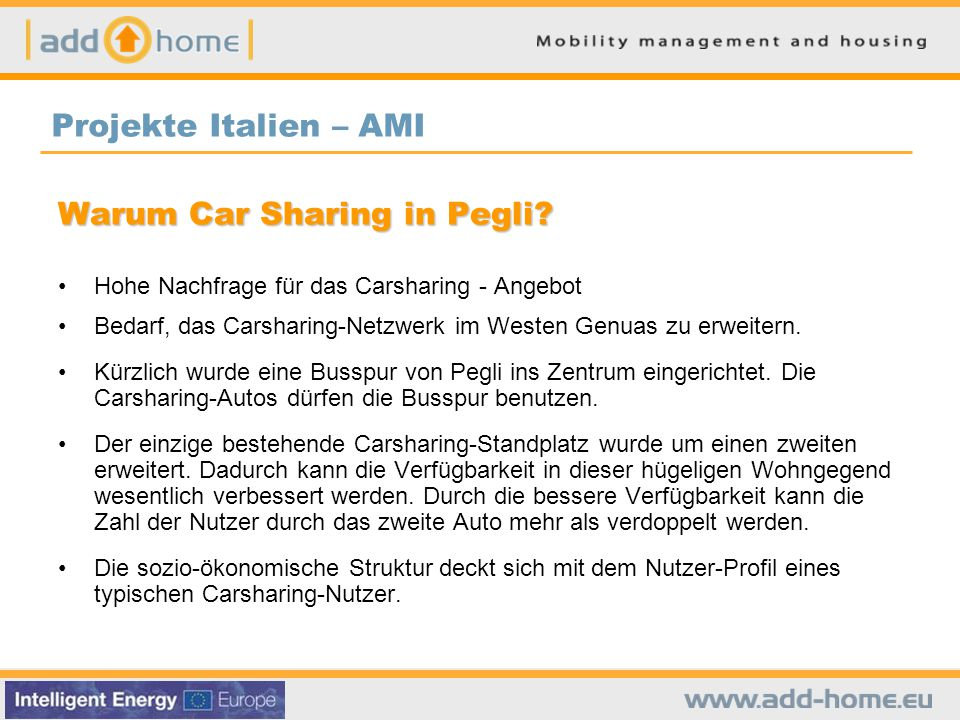 Warum Car Sharing in Pegli