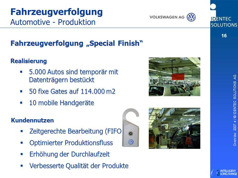 Fahrzeugverfolgung Automotive - Produktion